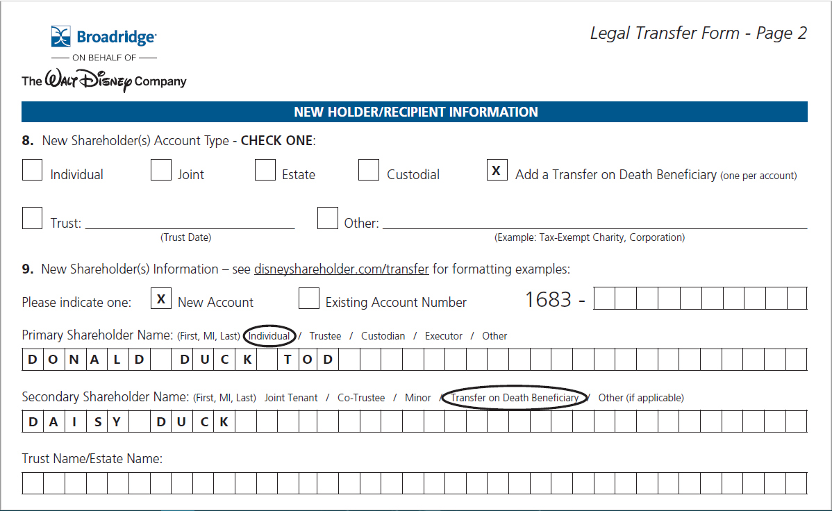 add a transfer on death beneficiary registration in transfer on death form shall be indicated by the abbreviation tod the designation pod or the